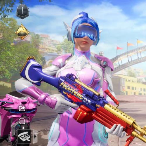 YD-82 安卓微信 套装:25枪皮:24 3车2粉装无特效 载具:吉普特斯拉《奇幻紫》桥车:特斯拉《珍珠白》双人,摩托-梦幻火箭 粉装:梦幻火箭 金属狂野